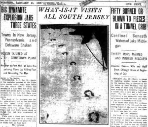 Cabecera artículo sobre Demonio en 1909.